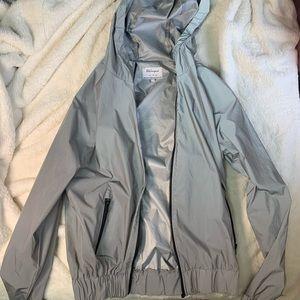 trendy reflective zip up hoodie